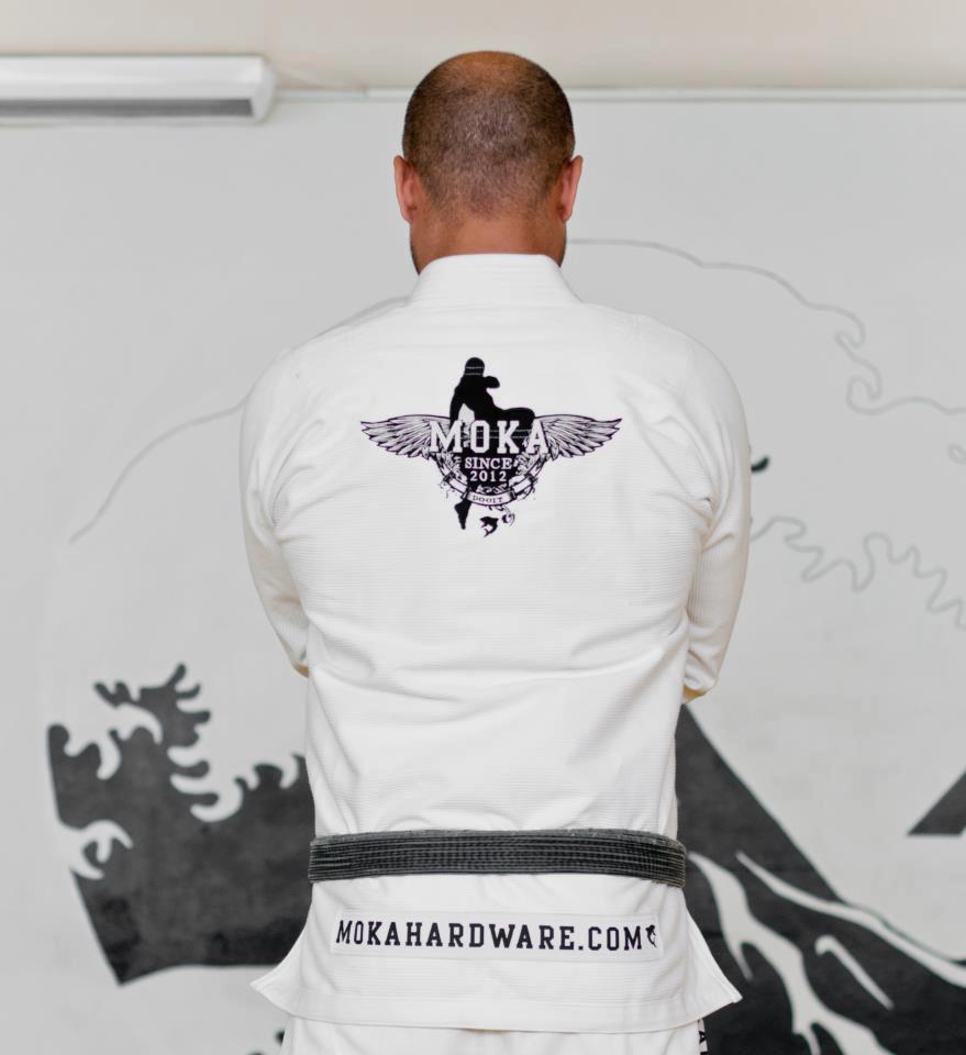 The Mokahardware.com Kimono from the back