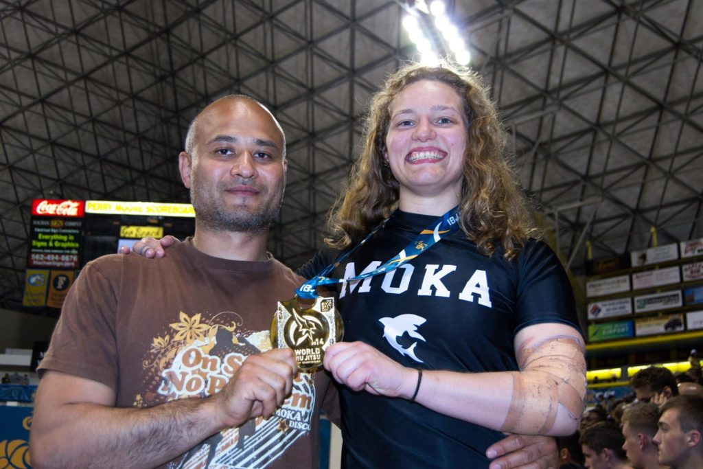 Janni Larsson first scandinavian world champion in BJJ